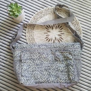 Thirty One 31 Sling Side Cooler Mint Grey Print